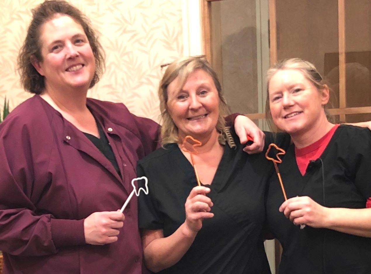 Machias Dental, Dental Hygienists Janet, Kelli and Kathryn